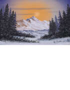 Arctic Winter Half Page Stock Art Winter Knoll