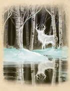 Arctic Winter Quarter Page Stock Art Spirit Elk
