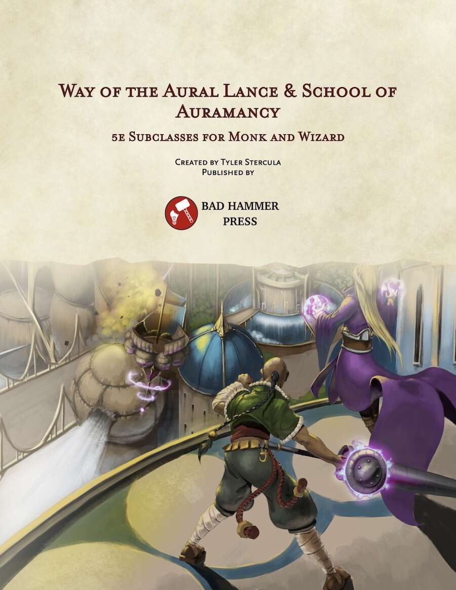 Way of the Aural Lance & School of Auramancy (ALPHA) - Bad Hammer Press    DriveThruRPG com