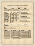 The Magic Realm Character sheet