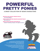 Powerful Pretty Ponies - NPC Collection (BESM Fourth Edition)