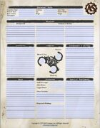 Adventure System - Character Sheet - Silver System