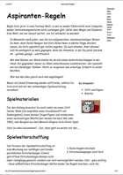 Aspiranten-Regeln Tabellen