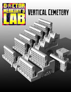 15mm Cyberpunk Scifi City Vertical Cemetery Neon Graves Terrain Pack  3D Files