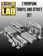 15mm Cyberpunk Scifi City Traffic Signs and Street Pack  3D Files