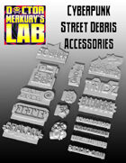 15mm Cyberpunk Scifi City Street Debris Accessory Set 3D Files