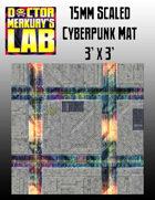 15mm Cyberpunk Scifi City Mat