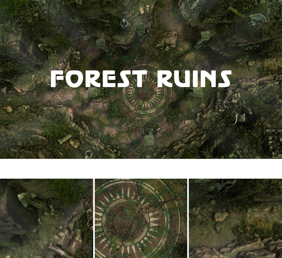 Animated Dungeon Maps: Forest Ruins