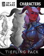 Character Stock Art - Tiefling Art Pack