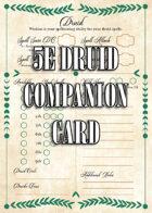 5e Druid Companion Card