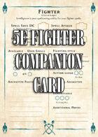 5e Fighter Companion Card