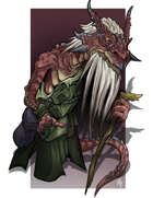 Spot Art - Red Kobold Sage - RPG Stock Art