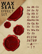 Wax Seal Effect Set - Customizable Graphical Elements