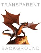 Dragon (Transparent BG) - Stock Illustration