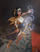Lightning Caster - Stock Illustration