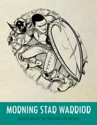 Morningstar Warrior Stock Art – Line Art – Spot