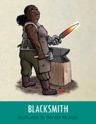 Blacksmith Stock Art – Line Art + Color – Spot