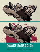 Dwarf Barbarian Stock Art – Line Art + Color – Spot