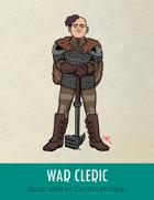 War Cleric Stock Art – Line Art + Color – Spot