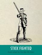 Stick Fighter Stock Art – Line Art – Spot