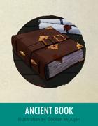 Ancient Book Stock Art – Line Art + Color – Spot