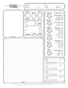 Legends of Elden Character Sheet