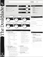 The Duskblade - A Dungeon World Playbook