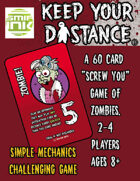 Keep your distance zombie card game