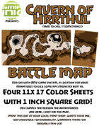 4 sheet BATTLEMAP cavern hrrthul