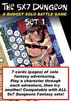 5x7 Dungeon Fantasy set 1