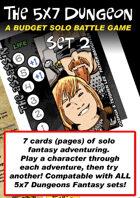 5x7 Dungeon Fantasy set 2