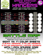 9 sheet BATTLEMAP space station set 5 fighter hangers