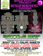 9 sheet BATTLEMAP space station set 7 engineering