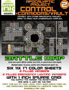 6 sheet BATTLEMAP apocalyptic set 2 control