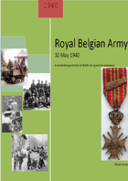 The Belgian Army 1940. A detailed Organisation for Battle