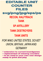 250+ Editable WW2 Era Combat Unit Counters