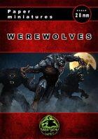Werewolves Paper Miniatures