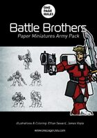 Battle Brothers Army Pack - Paper Miniatures
