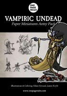 Vampiric Undead Army Pack - Paper Miniatures