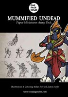 Mummified Undead Army Pack - Paper Miniatures