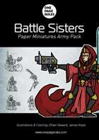 Battle Sisters Army Pack - Paper Miniatures