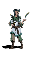 Half Elf Bard - Stock Art