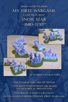 Snow Star. 1680-1730. 28mm paper soldiers.
