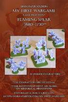 Flaming Spear. 1680-1730. 28mm paper soldiers.
