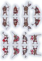 Snow Star. Vikings 9-11AD. 28mm paper soldiers. Little set.
