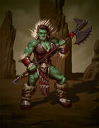 RPG Stock Art: Orc Barbarian