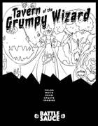Tavern of the Grumpy Wizard Anti-Coloring Coloring Book