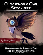 Clockwork Owl - Stock Art