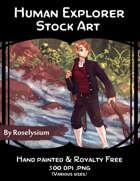 Male Human Explorer - Stock Art