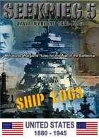 SEEKRIEG 5 Ship Logs - United States 1880-1945